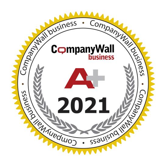Certifikat in bonitetno oceno A+ za leto 2021